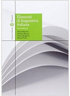 elementi di linguistica italiana bonomi masini morgana