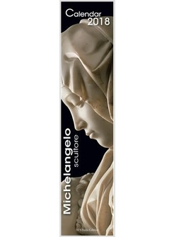 CALENDARIO CM 11 X 49 MICHELANGELO SCULTORE 2018