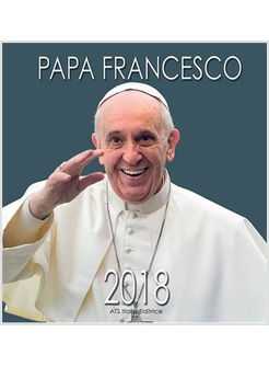 CALENDARIO CM 32 X 34 PAPA FRANCESCO 2018 SORRIDENTE