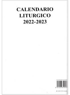 Calendario Filosofico 2020 Dove Si Compra.Calendario Liturgico Murale 2019 2020