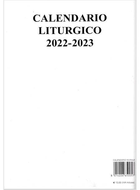 Calendario Liturgico Murale 2020   2021   Autori Vari   Sat
