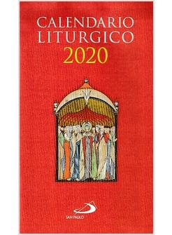 Calendario Pastorale 2020.Calendario Liturgico 2020